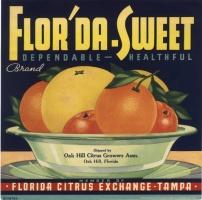 A vintage ad for Flor'da-Sweets