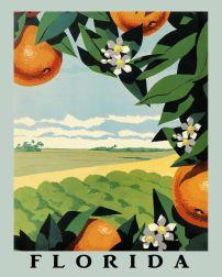 Vintage Florida tourism poster