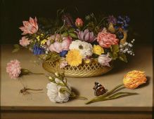 Ambrosius Bosschaert, Still Life of Flowers, 1614