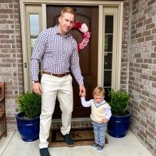 Kid's got good genes - and khakis