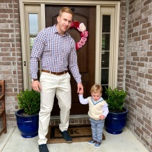 Kid's got good genes - and khakis